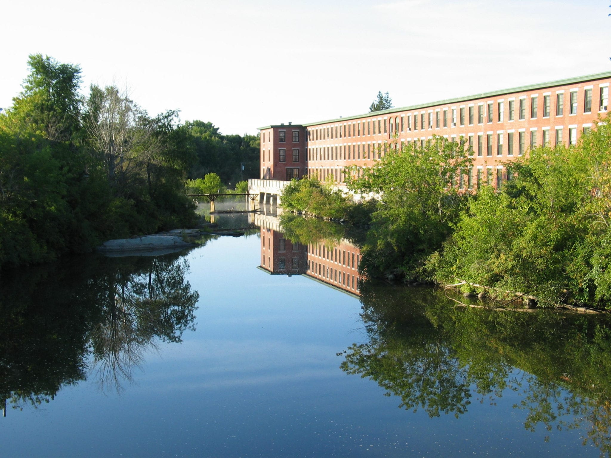 Canal and mill in Lewiston, Maine